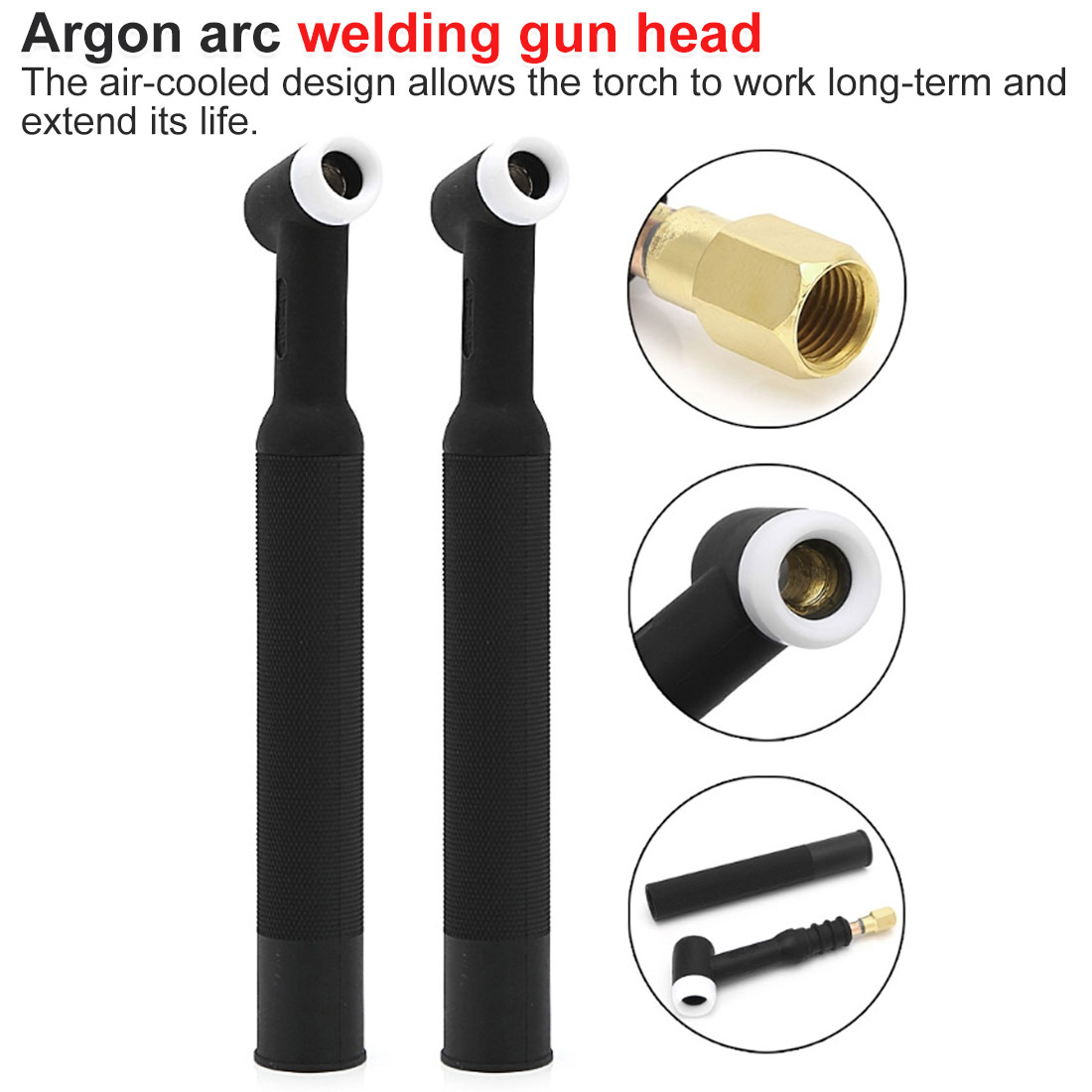 Flexible Head Body Nozzle Gas Cooled Torch 250A 50A WP-26 Tig Welding Torch 26 Series Welding Accessories
