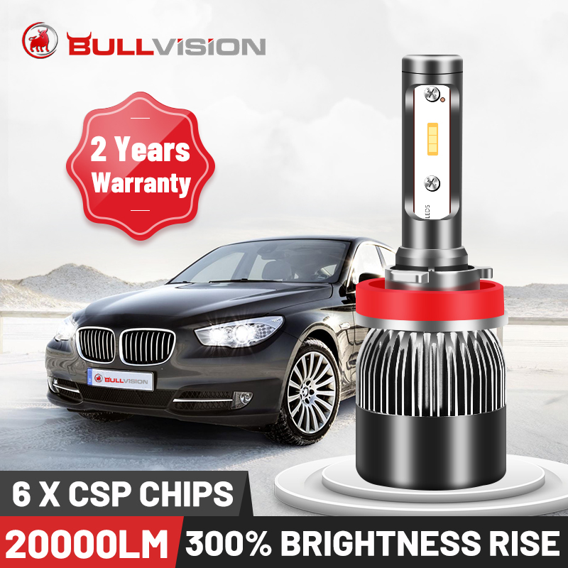 BULLVISION H11 H4 H7 Led 12V Mini 9005 9006 фары лампа лм высокая яркость H8 H9 Hb3 Hb4 светодиодные автомобильные лампы Turbo Csp