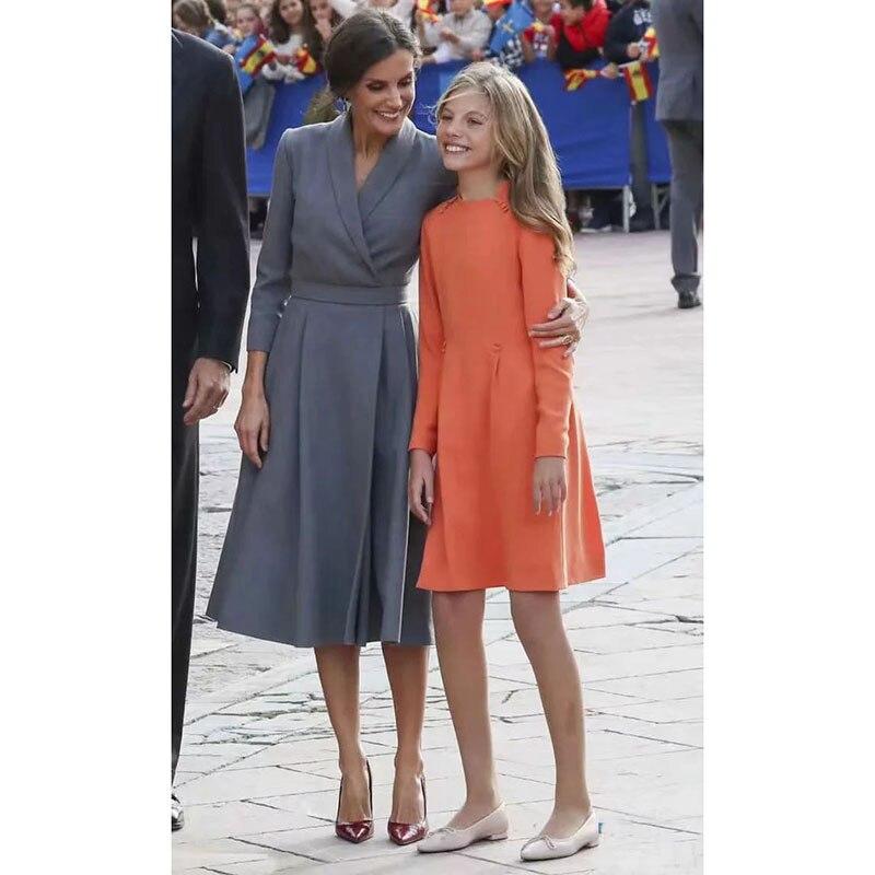 Robe de princesse 2020 haute qualité printemps automne piste étoile Style crantée à manches longues Vintage travail fête élégante robe NP0849C