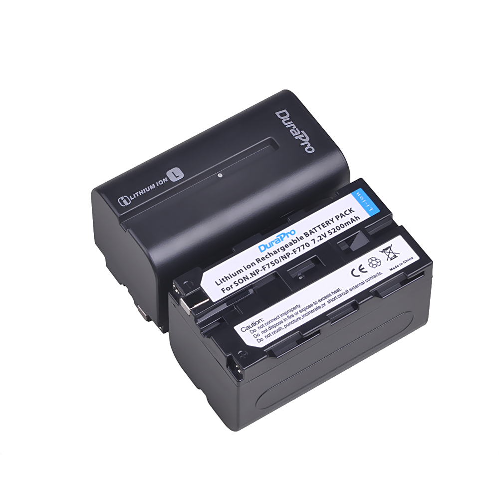 2PC 5200mAH NP-F750 NP-F770  Li-ion Camera Battery + LCD USB Dual Charger for Sony NP F970 F960 F550 F570 QM91D CCD-RV100 TRU47E 3