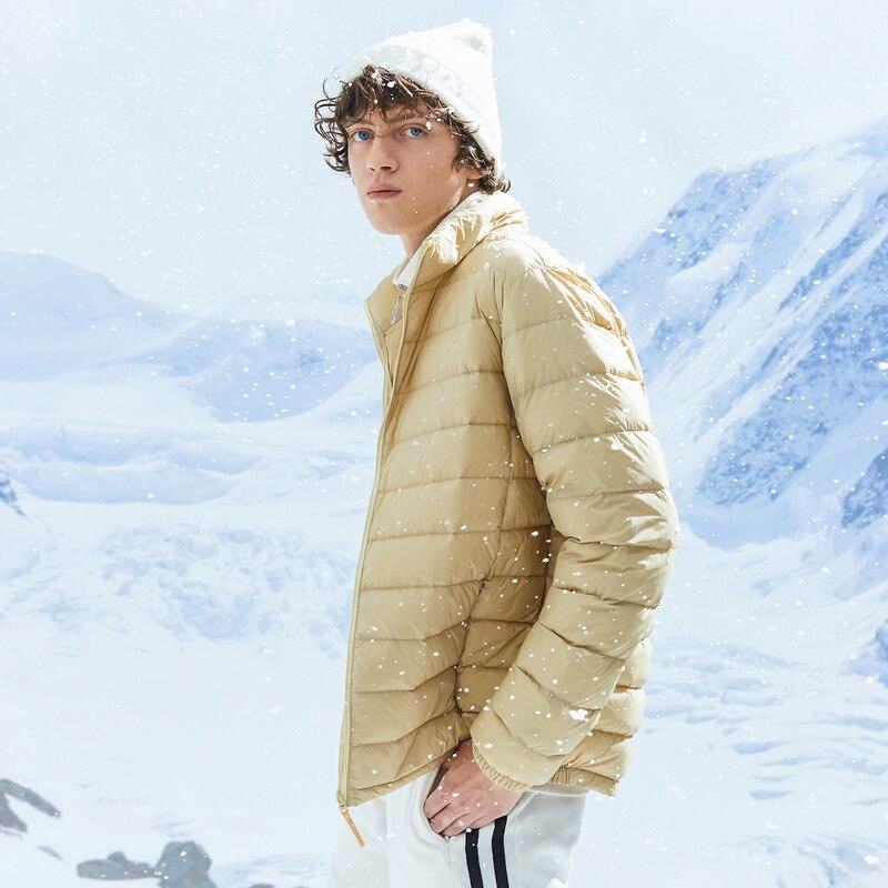 Metersbonwe 2019 Donsjack Mannen Winter Draagbaarheid Warm 90% Witte Eendendons Hooded Man Jas Jaqueta Masculino Chaqueta Hombre - 2