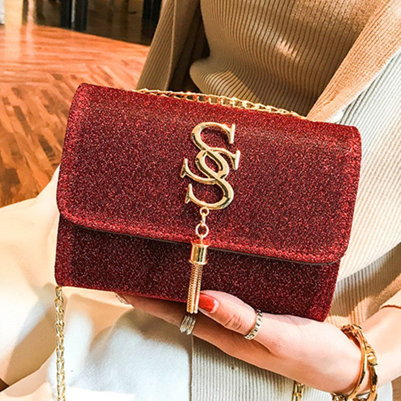 Small Women Bags PU Leather Brand Handbag For Women 2019 Luxury Messenger Chains Tessel Bag High Quality Ladies Purse