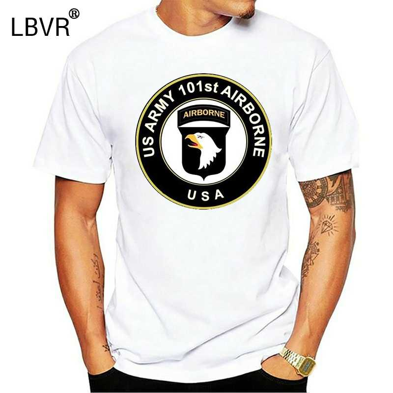 2019 Men Cool Tee Shirt 101 Airborne US ARMY Recto Verso TAILLE 여름 티셔츠