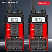 2 pçs baofeng novo profissional walkie talkie uv 10r 10km 128 canais vhf uhf banda dupla em dois sentidos cb rádio presunto baofeng UV-10R