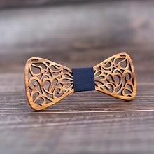 Bow-Ties Shirt Wedding-Suit Wood Butterflies Floral Hollow New Men Mahoosive for Krawatte