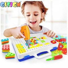 Nut-Toys Children Carpentry-Tool Electric-Drill Building Educational Design for Boy Assembled-Blocks-Sets