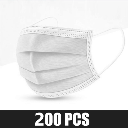 200pcs White