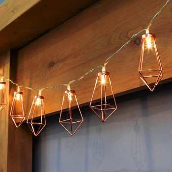 10/20 LED or Rose diamant gouttes lampe chaîne de noël de mariage de noël en plein air fée lumière partie décor à la maison livraison directe