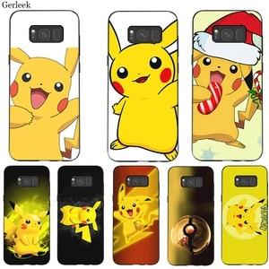 Siliconen Mobiele Telefoon Geval Voor Samsung J4 J6 J7 Duo A2 Core A3 A5 A6 A7 A8 A9 Plus Prime leuke Pikachu