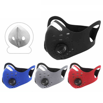 GoByGo Sport Face Mask With Activated Carbon Filter PM 2.5 Anti Pollution MTB Bike Training Mask Anti Smog Cycling Mask