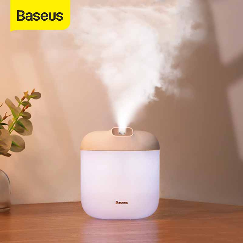 Baseus Humidifier 600ml Large Capacity For Home Office Portable Aroma Diffuser Smart Ultrasonic Humidifier Aromatherapy