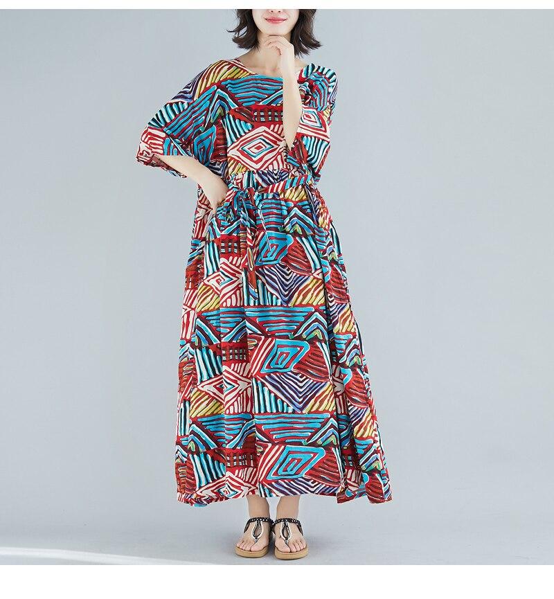 Robe vintage grande taille bohème 5