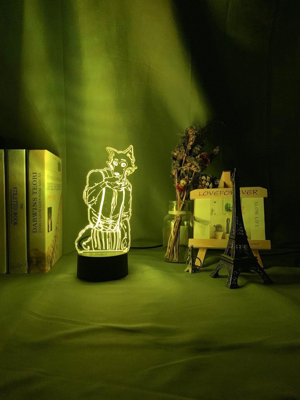 H7be1b6b9c4314f1bbe9bc2998f56227eG Luminária Beastars de mesa legosi acrílica 3d, luz noturna para decoração de quarto infantil, luz noturna para presente usb
