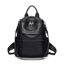 2020 New Fashion Women Backpack Genuine Leather Casual Lady Rucksack Cowhide Back Pack Daily Travel Backpacks