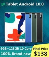 Tableta inteligente Android 2021, Tablet PC de 10 pulgadas, pantalla grande IPS 6G + 10,0 GB, Internet 4G, WiFi, FM, GPS, Bluetooth, novedad de 128