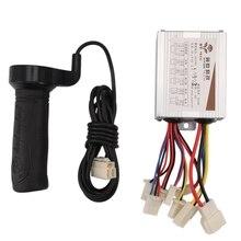 BMDT-24V 500 Вт постоянного тока электрический велосипед с щеткой контроллер с длинной линией поворота руль для электрического велосипеда