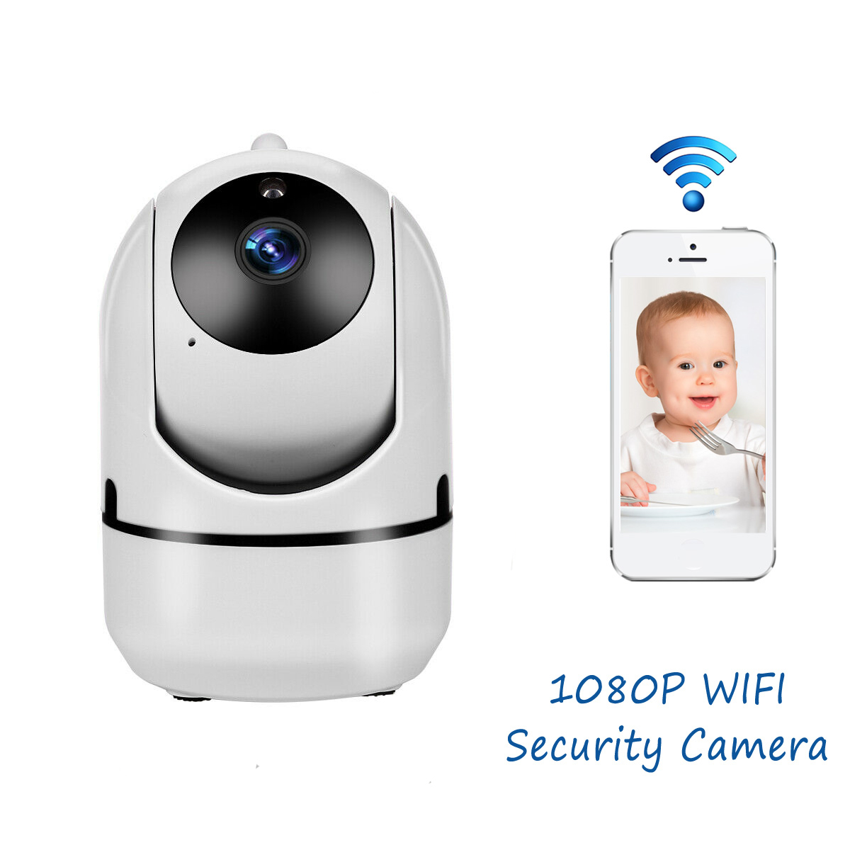 Wifi Camera Tracking Baby-Monitor Surveillance Mini Auto Security Home Wireless 1080p