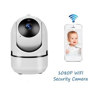 Minicámara IP con Monitor para bebés, seguimiento automático, HD 1080p, cámara inalámbrica Wifi para interiores, cámara de vigilancia de seguridad CCTV
