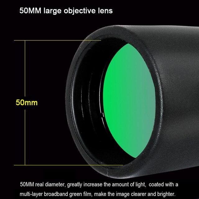 2021 Borwolf 12-36X50 Binoculars BAK4 Prism Optical Lens High Power Hunting Birdwatching Monocular Light Night Vision Telescope 4