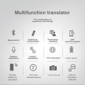 Image 5 - 68 idiomas tradutor de voz instantânea portátil inteligente tradução bidirecional para aprender a viajar negócio conhecer inglês idioma