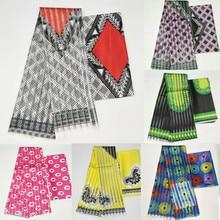 Heißer verkauf Ghana Stil satin seide stoff mit organza band Afrikanischen wachs design! J71401