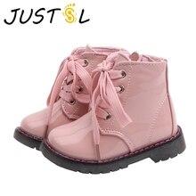 JUSTSL jesienne zimowe dziecięce buty Martin dziewczęce chłopięce krótkie buty dziecięce dziecięce oraz aksamitne wodoodporne bawełniane buty