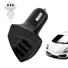 Melhor venda 2019 produtos 3-port usb 3.0 carregador de carro 2.1a adaptador para samsung note 10 plus para dispositivos wearable dropshipping(China)