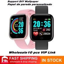 Atacado vip link y68 smartwatch masculino esporte bluetooth personalizado dials banda inteligente monitor de freqüência cardíaca pulseira rastreador de fitness
