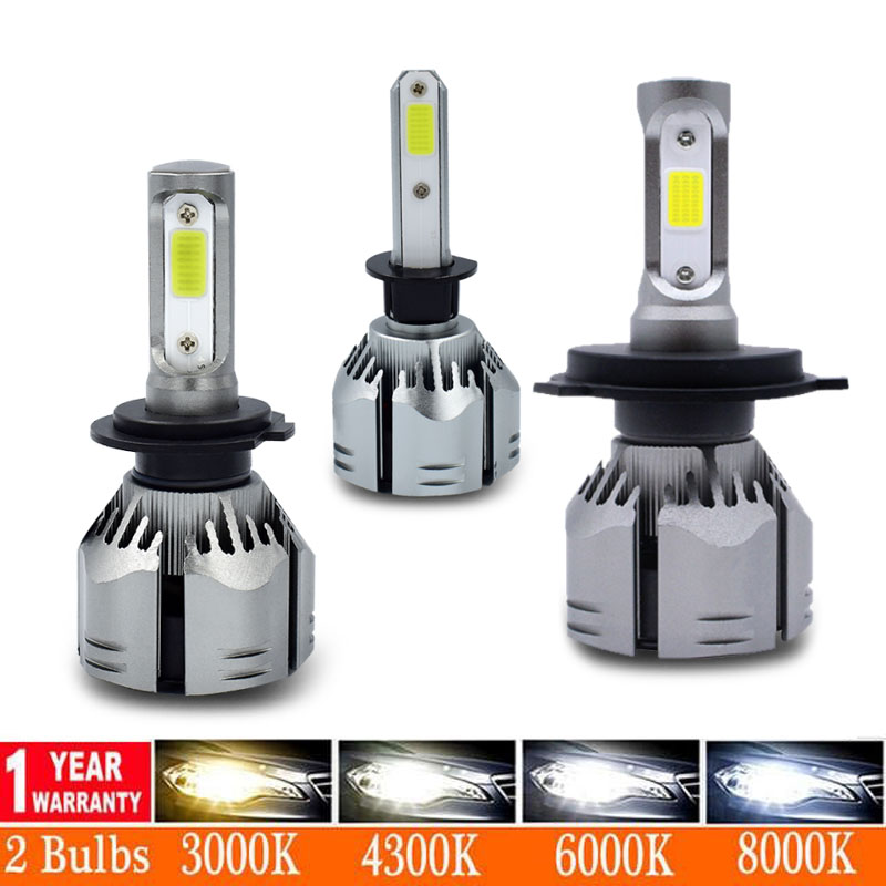 H7 LED H4 H11 H8 H1 HB3 9005 9006 LED HB3 Canbus Phare Ampoule Voiture Lumière 12000LM 80W 4300K 6500K 8000K 12V 24V Lampe