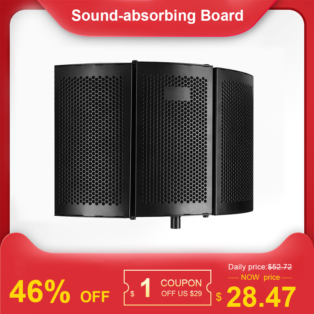 Recording Microphone Wind Screen Board Sound-absorbing Cover Microphone Sound Insulation Screen Sound-proof Plate