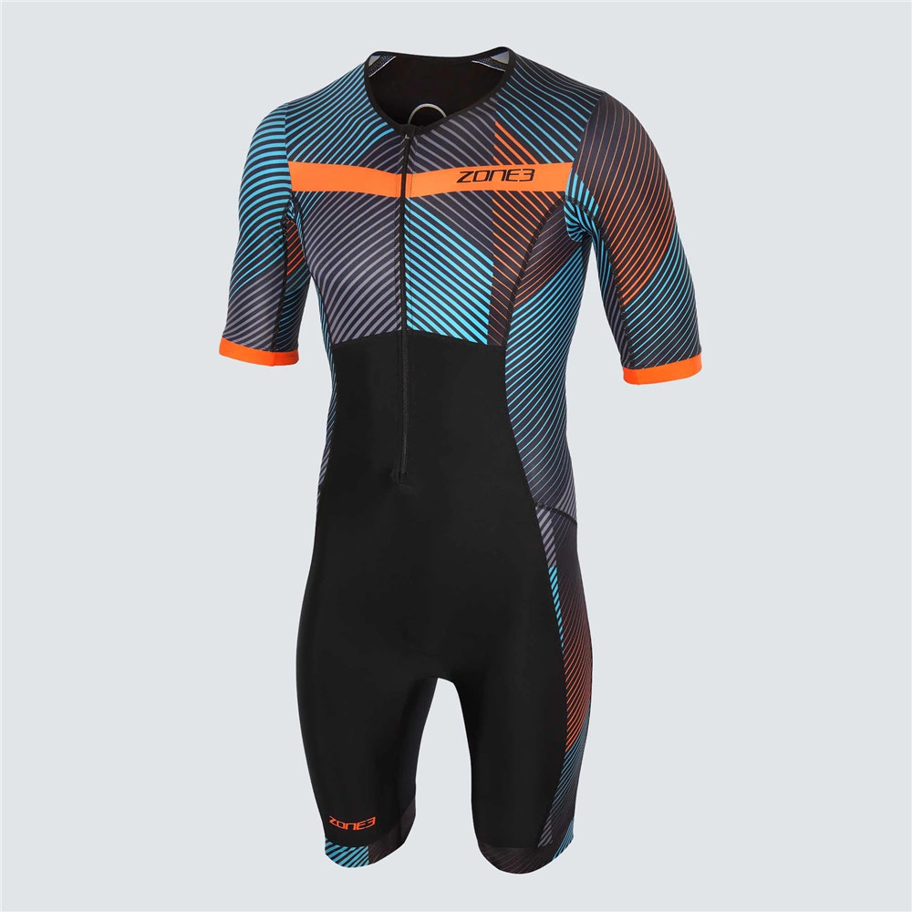 Zone3 2020 Summer Men's Triathlon Skinsuit Cycling Jersey Short Sleeve Jumpsuit Road Mtb Bike Running Clothing Maillot Ciclismo