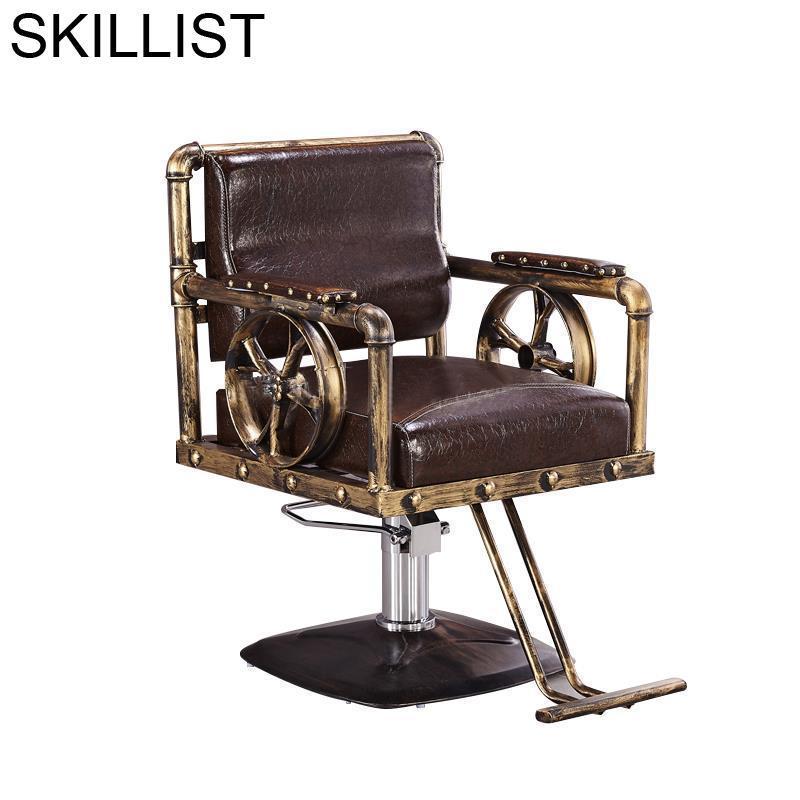 Makeup Stoel Hair Furniture Barbero Stuhl Barberia Cadeira De Cabeleireiro Mueble Salon Silla Barbearia Barbershop Barber Chair