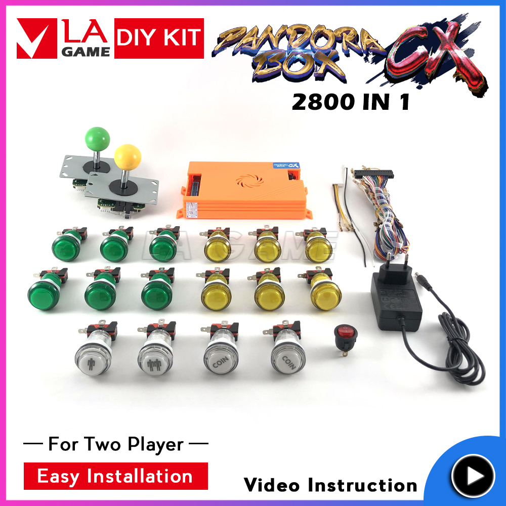 Купить аркадный комплект 2 игрока pandora box cx 2800 игры в 1 джойстик