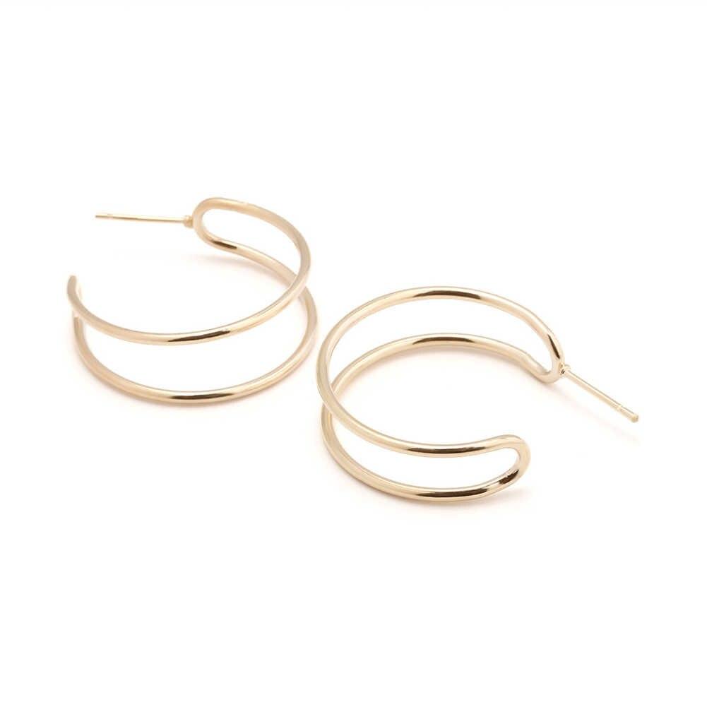 Południowa biżuteria z korei kolczyki miłośnicy okrągłe do ucha kolczyki dla kobiet i pierścionki kolczyki kobiece kolczyki Hip Hop Hoop prezent Jewe