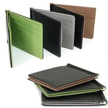Money Clips Fashion Men PU Leather Wallet Purse Small Ultrat