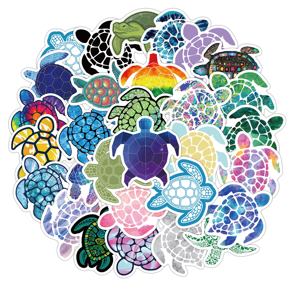 41 PCS lovely colorful Sea turtle little turtle Stickers for DIY Luggage Laptop Skateboard Car Motorcycle Bicycle Stickers