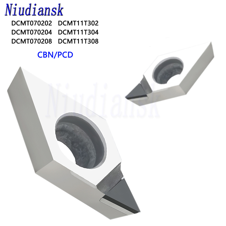 DCMT070204 DCMT070208 DCMT11T304 DCMT11T308 CBN PCD Diamond Solid Tipped Insert CNC Lathe Turning Cutter Blade Tools