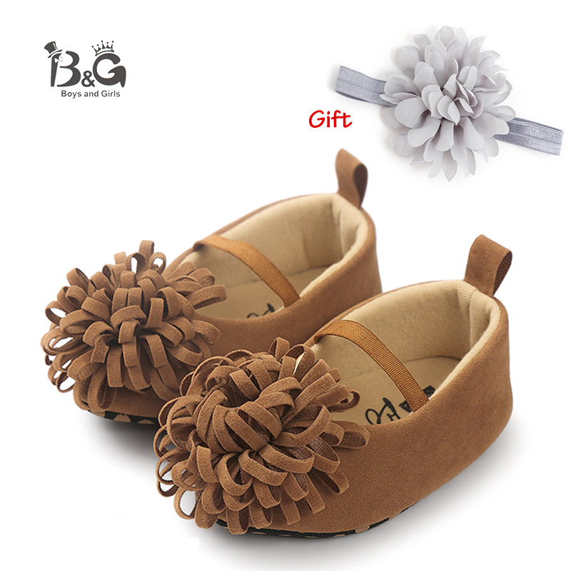 B&G Girl Princess Shoes Soff Breathable Kids Shoes Anti-slipbaby First Walkers Baby Girl Walking Shoes