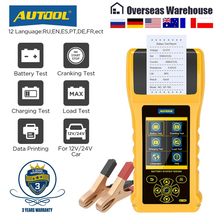 AUTOOL BT760 Car Battery Tester with Printer 6- 32V Color Screen Battery Test & Cranking