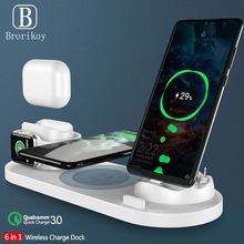 6-in-1 10W wireless charger base for Apple Watch Airpods mul