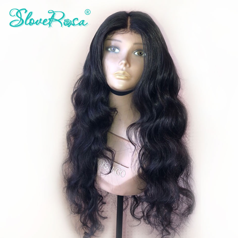 13x4 Body Wave Brazilian Remy Hair Lace Front Human Hair Wigs For Black Women Pre Plucked Bleached Knots Baby Hair Slove Rosa-in Human Hair Lace Wigs from Hair Extensions & Wigs