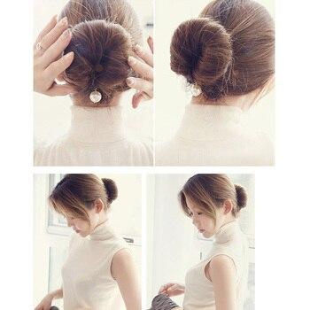 Дамская девушка бублик для волос пучок Maker держатель для волос Губка зажимы для прикладом Свадебные прически булочки для волос инструмент
