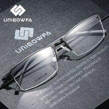 Titanium Alloy Semi Rimless okulary na receptę rama mężczyźni optyczne oprawki okularów dla osób z krótkowzrocznością przezroczysty koreański okulary