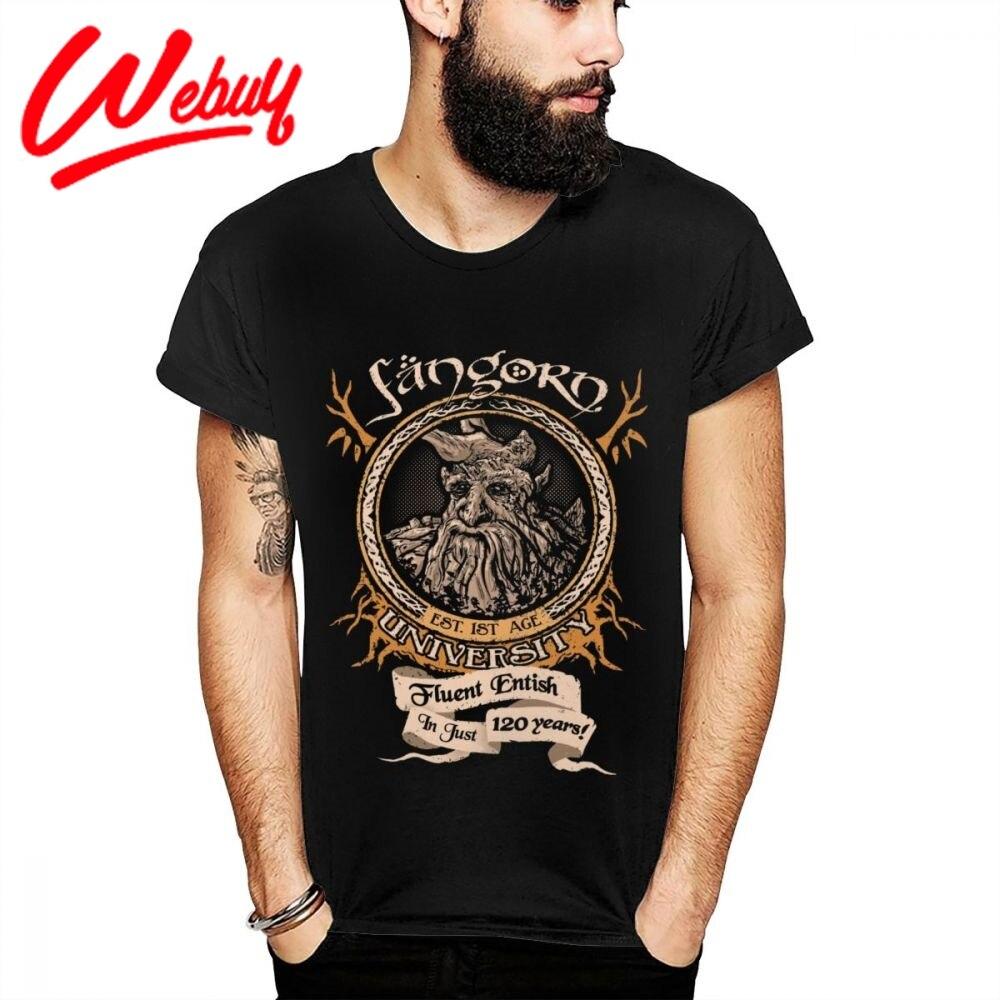 Vintage Señor de los anillos Fangorn treebeat Camiseta 100% suave algodón camiseta verano fresco cómodo cuello redondo La camiseta