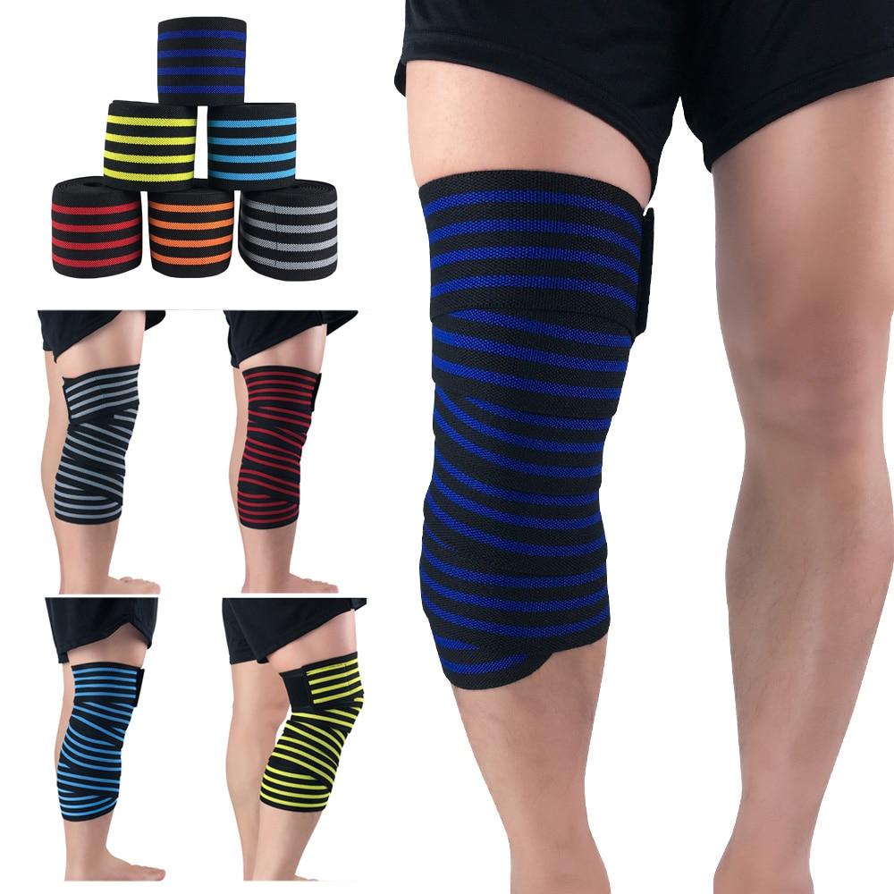 Elastic Adjustable Bandage Sports Knee Protection Support Training Running