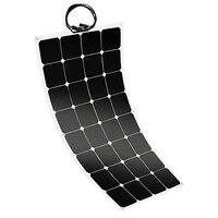 MOOL 100W 12V גמיש Sunpower פנל סולארי סוללה מטען לרכב Rv ימי סירה-בתאים סולריים מתוך מוצרי אלקטרוניקה לצרכנים באתר