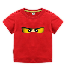 Printed T-Shirt Clothing Legoes Ninjago Tops Short-Sleeves Girls Children Summer