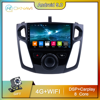 For Ford Focus 3 Mk 3 Car Radio 2011-2019 Multimedia Video Player Navigation GPS No DVD 2 DIN Android 9.0 Carplay DSP Autoradio image