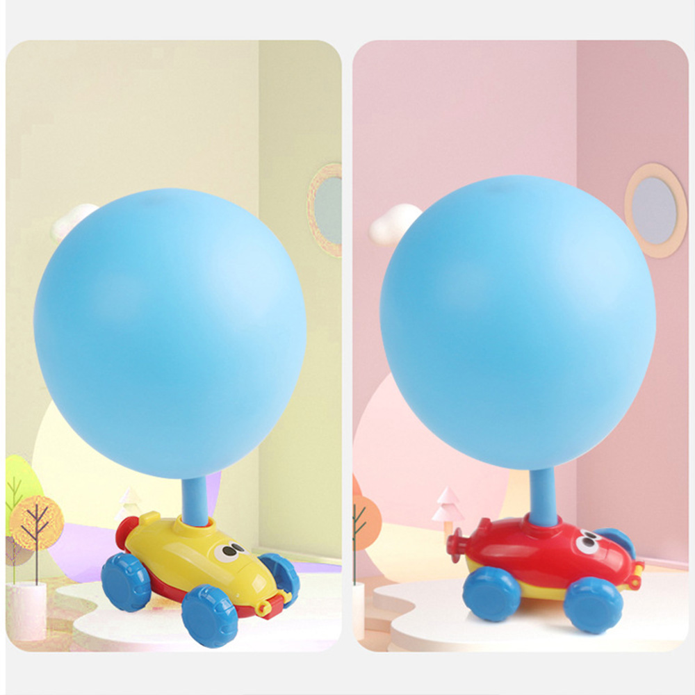 Kids Car Toys For Children Aerodynamic Forces Inflatable Balloons Toy Car Inertial Power Reminiscent Balloon Toy For Baby Toys