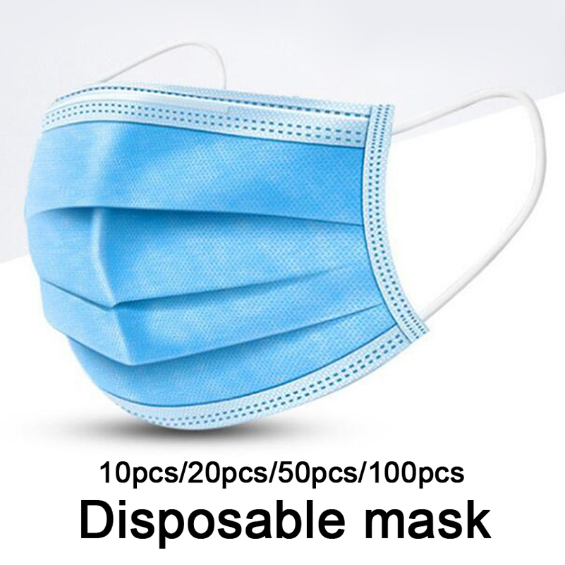 Unisex Masks Men Non-woven Face Mask Women Anti Dust Mouth Nose Cover Anti Bacterial Anti-fog And Haze PM2.5 Mask